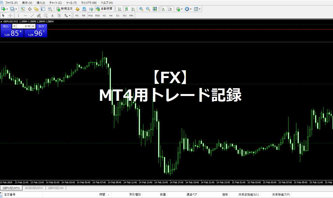 【FX】MT4データをコピペするだけ。MT4用トレード記録【Excel】